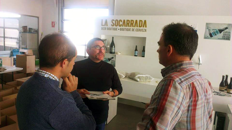 Consulting at a craft brewery in Spain.