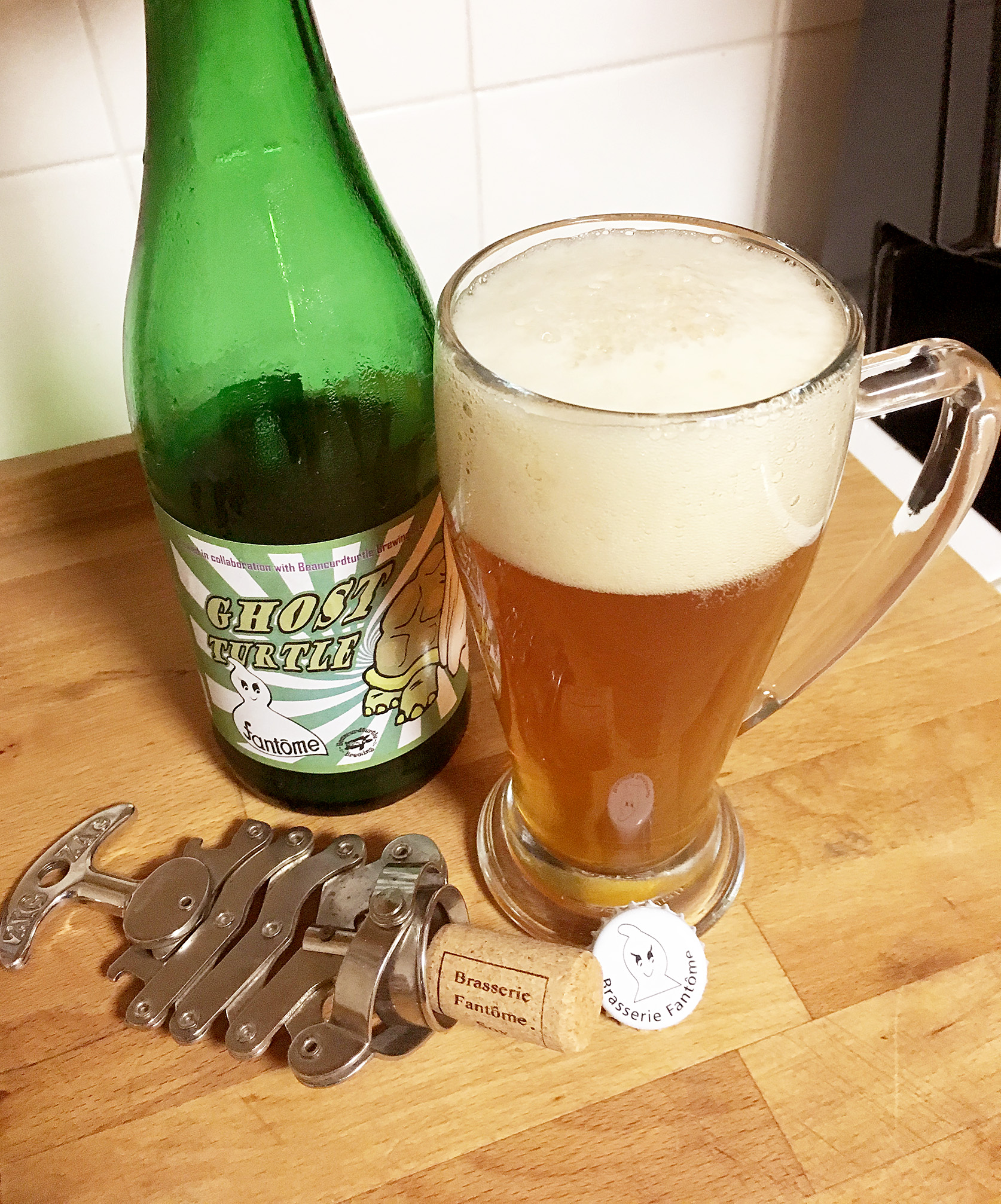 Ghost Turtle. A collaboration brew from Brasserie Fantôme and Beancurdturtle Brewing® LLC.