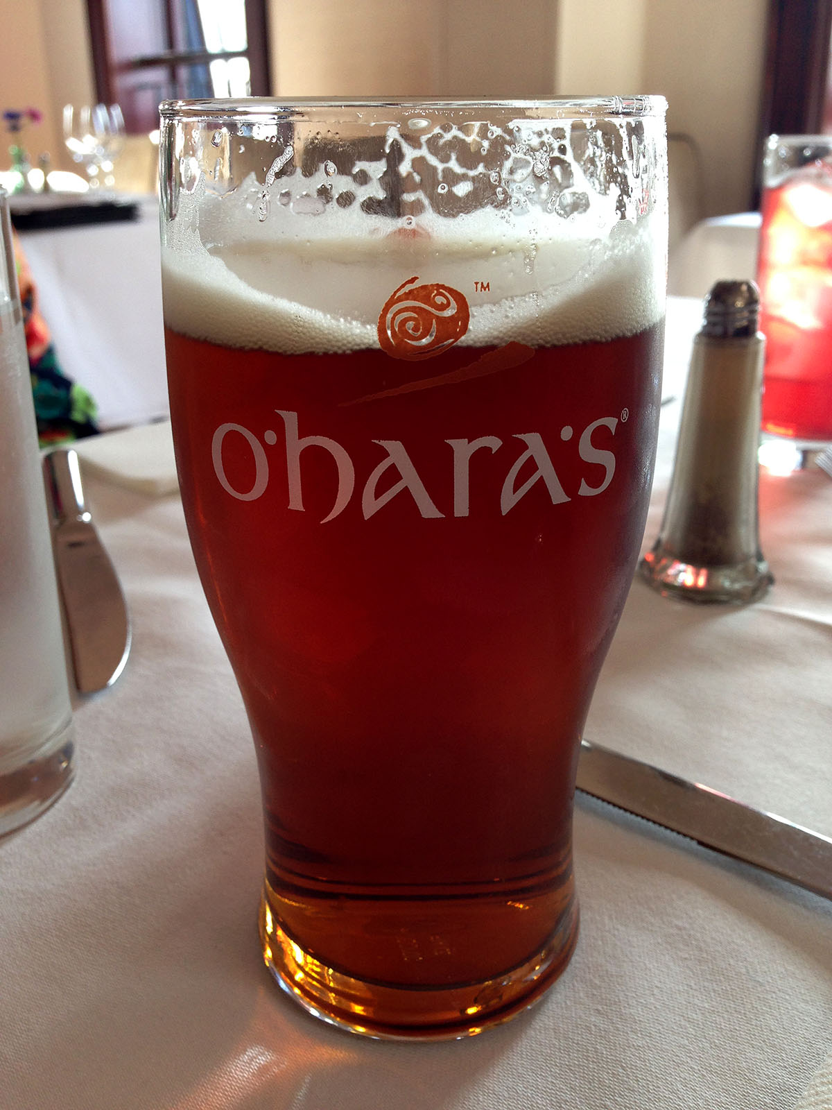 O'Hara's Red, first pint on a Euro holiday.