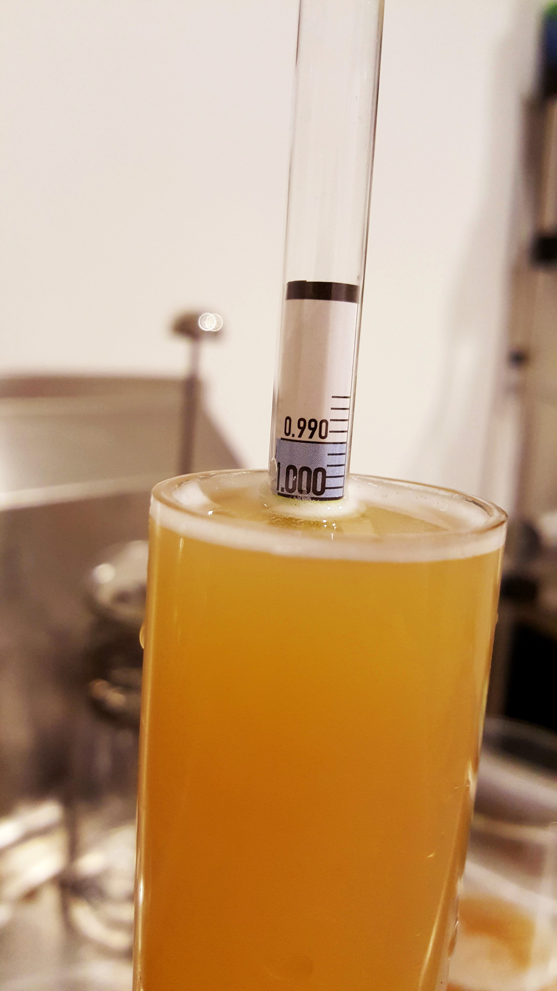 13 days in the fermenter, and it's at 96.2% attenuation.