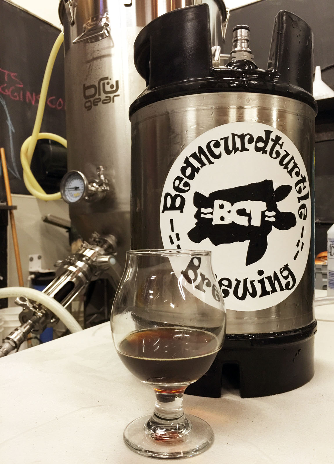 A wee keg of The Dub, by BCT Brewing Project.