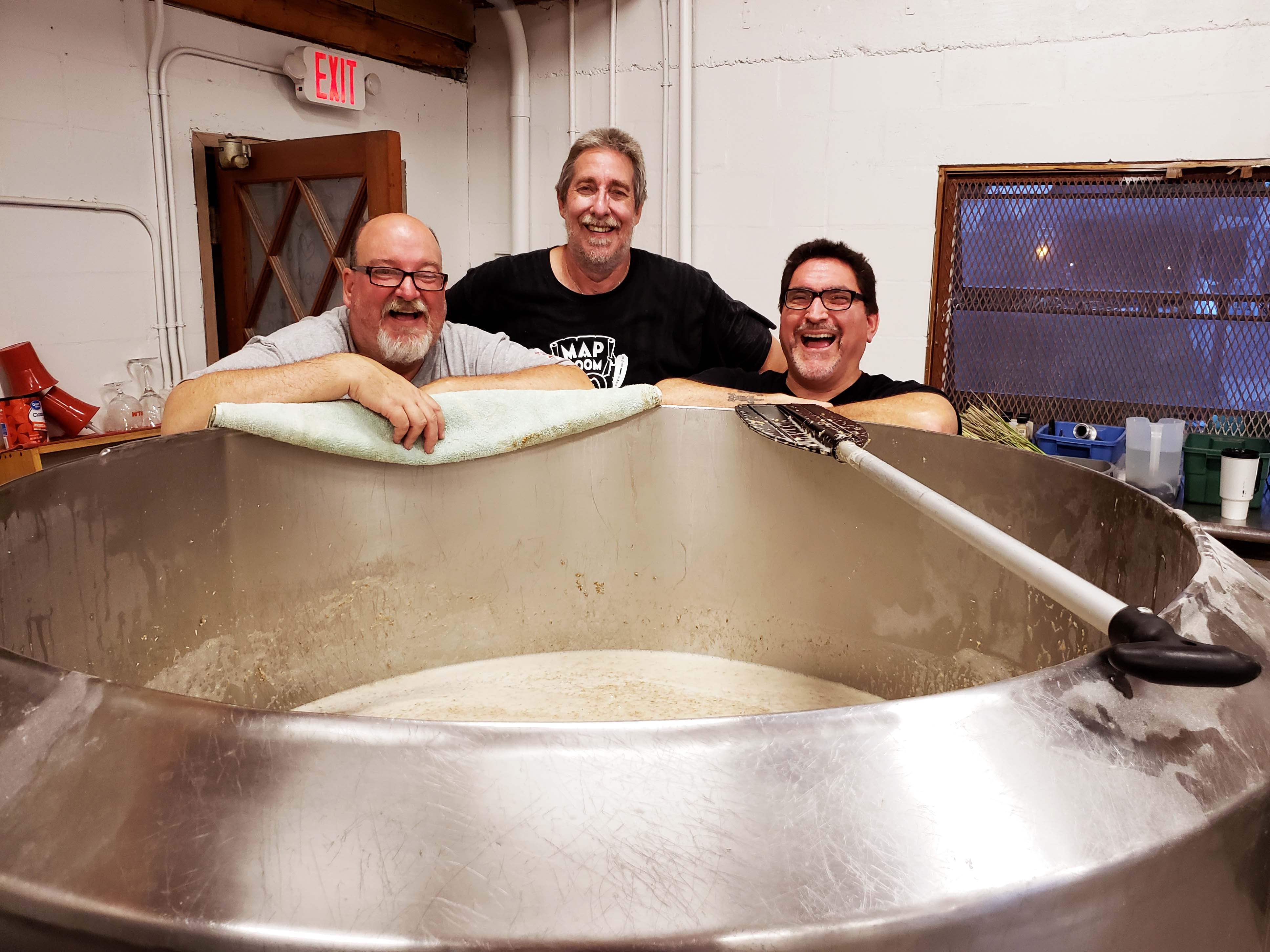 Brewing is fun, if you catch the brewers before the heat of a June day in Florida.